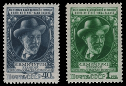 Russia / Sowjetunion 1949 - Mi-Nr. 1353-1354 ** - MNH - Mitschurin / Michurin - 1923-1991 UdSSR