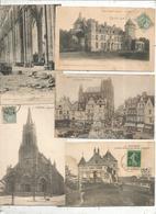 Cp, 80, SOMME , AULT ONIVAL PONT-REMY ABBEVILLE AMIENS , LOT DE 5 CARTES POSTALES - Postcards