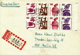 HILDEN - 1975  , Heftchenblatt Unfallverhütung - R-Brief Nach Berlin - Berlin (West)