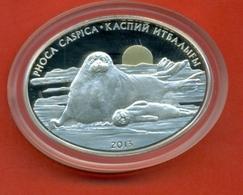 Kazakhstan 2013. Caspian Seal. Coin Of Silver With Gold. Weight 24 Grams. - Kazakhstan