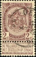 "COB   55 A (o) Oblitération ""Gedinne"" T2R - 1893-1907 Wappen"