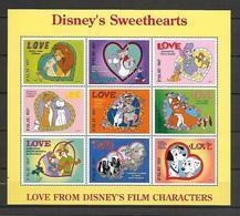 Disney Palau 1996 Disney's Sweethearts Sheetlet MNH - Disney