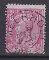 N° 46 MEERHOUT COBA +8.00 - 1884-1891 Léopold II