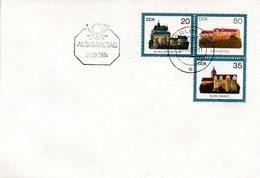 "DDR Amtl. GZS-Umschlag U 1 20(Pf) Neben 80(Pf) Darunter 35(Pf) Mehrfarbig ""Burgen Der DDR"" ETSt 28.9.84 BERLIN - DDR"