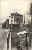 Cp Saulzoir Nord, La Fontaine, Straßenpartie, Gebäude, Frau Beim Waschen - Métiers