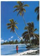 Tahiti Fille Sur La Plage Edition Erwin Christian Bora Bora Publicité UTA - Tahiti