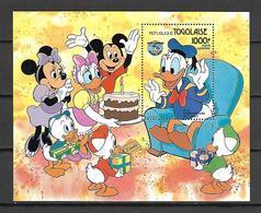 Disney Togo 1984 Donald Duck Birthday MS #1 MNH - Disney