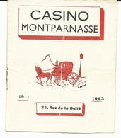 PROGRAMME DU CASINO MONTPARNASSE Du 27 JUILLET Au 17 AOUT 1945 - 35 Rue De La Gaîté - PARIS - Programs