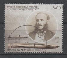 Croatia 2016, Used, Michel 1925, Inventions, Torpedo, Luppis - Croatia