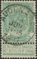 """COB   56  (o) Oblitération """"Audenaerde"""" T1L - 1893-1907 Wappen"""
