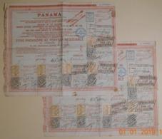 OBLIGATION - LOT DE 2 TITRES PROVISOIRE Cie CANAL DE PANAMA - Transports