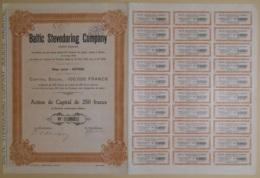 ACTION DE CAPITAL - BALTIC STEVEDORING COMPANY  - EMISSION DE SEULEMENT 400 ACTIONS - Navigation