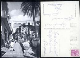 CAPRI - NAPOLI - 1962 - VIA VITTORIO EMANUELE - BELLA ANIMAZIONE - Napoli