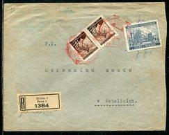 Boehmen Und Maehren / 1941 / Mi. 21 (2) Und 34 A. Reco-Brief Ex Bruenn, SSt. 68 (5/483) - Bohemia & Moravia