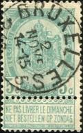 """COB   56  (o) Oblitération """"Bruxelles 5"""" T1L - 1893-1907 Wappen"""