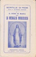 LIBRETTO SCINTILLE DI FEDE, LA MEDAGLIA MIRACOLOSA 1930 - Santini