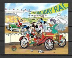 Disney St Vincent Gr 1989 Christmas - Cars #1 MS MNH - Disney