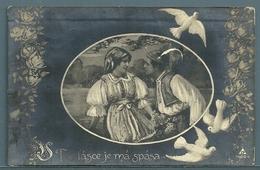 CPA - COUPLE TCHÈQUE - Couples