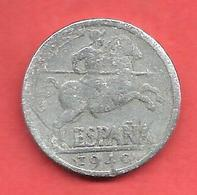 10 Centimos , ESPAGNE , Aluminium , 1940 , N° KM # 766 , N° Y110 - [ 4] 1939-1947 : Gouv. Nationaliste