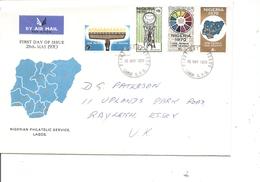 Nigéria ( FDC De 1970 Voyagé Vers La Grande-Bretagne à Voir) - Nigeria (1961-...)