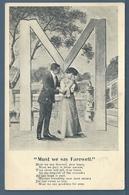CPA - COUPLE - LETTRE M - Couples