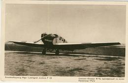 AVIA  Streckenflugzeug Riga - Leningrad Junkers F 13 DURULUFT - Lettonie