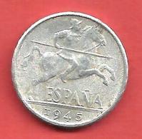 10 Centimos , ESPAGNE , Aluminium , 1945 , N° KM # 766 , N° Y110 - [ 4] 1939-1947 : Gouv. Nationaliste