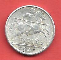 10 Centimos , ESPAGNE , Aluminium , 1945 , N° KM # 766 , N° Y111 - 10 Céntimos