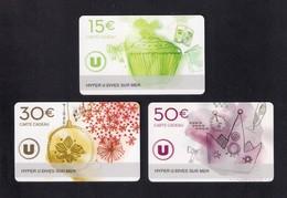 3  Carte Cadeau HYPER U  DIVES SUR MER  (14).    Gift Card. Geschenkkarte - Cartes Cadeaux