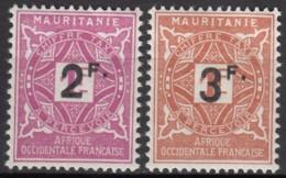 Taxe N° 25 Et N° 26 - X - ( C 1667 ) - Mauritanie (1906-1944)