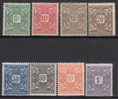 Taxe N° 17 Au N° 24 - X - ( C 1539 ) - Mauritanie (1906-1944)