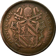 Monnaie, États Italiens, PAPAL STATES, Pius IX, 2 Baiocchi, Muraiola, 1851 - Vatican
