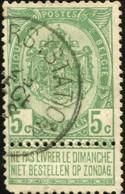 """COB   56 A (o) Oblitération """"Anvers (station)"""" T1L - 1893-1907 Wappen"""