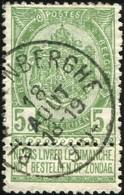 "COB   56 A (o) Oblitération ""Blankenberghe"" T1L - 1893-1907 Wappen"