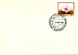AUSTRALIE. Entier Postal Avec Oblitération 1er Jour De 1982. Rose Du Désert De Sturt. - Végétaux