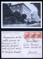 LEVICO - TRENTO - 1949 - ALBERGO ROCCHETTI CON STRISCIA DI TRE DEL 4 LIRE DEMOCRATICA - 6. 1946-.. Repubblica