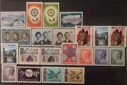 Luxemburg 1964 - 65    Van  Nr. 696  Tot Nr. 716    Zie Foto      Postfris **  CW  11,00 - Luxembourg