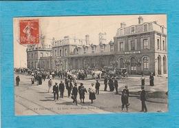 Le Tréport, 1912. - La Gare, Arrivée D'un Train De Plaisir. - ( Gare Le Tréport-Mers ). - Le Treport