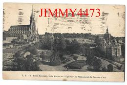 CPA - L' Eglise Et Le Monument De Jeanne D' Arc En 1925 à BONSECOURS 76 Seine Maritime - Edit. E. T. N° 8 - Recto-Verso - Bonsecours