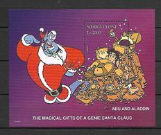 Disney Sierra Leone 1997 Abu And Aladdin - The Magical Gifts Of A Genie Santa Claus MS MNH - Disney