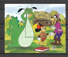 Disney Redonda 1985 The Dragon And His Mother MS MNH - Disney