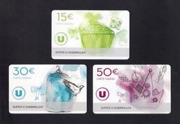 3  Carte Cadeau SUPER U  GUEBWILLER (68).    Gift Card. Geschenkkarte - Gift Cards
