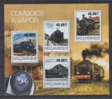 A90. Mozambique - MNH - 2014 - Transport - Trains - Locomotive - Australia - Trains