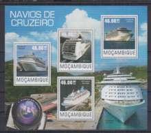 A90. Mozambique - MNH - 2014 - Transport - Ships - Cruise Liners - Boten