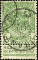 """COB   56 A (o) Oblitération """"Dinant"""" T1L - 1893-1907 Wappen"""
