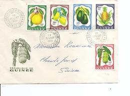 Fruits ( FDC De Guinée De 1959 à Voir) - Fruits