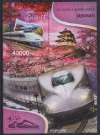 E90. Guinea - MNH - 2015 - Transport - Trains - Japanese - Bl. - Transports