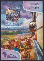 E90. Guinea - MNH - 2015 - Transport - Trains - Arican - Bl. - Transports