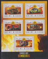 F90. Guinea-Bissau - MNH - 2016 - Transport - Fire Trucks - Transports