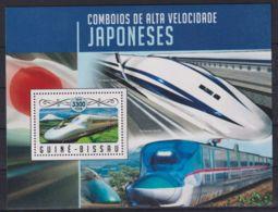 F90. Guinea-Bissau - MNH - 2016 - Transport - Trains - Japanese - Bl. - Transports